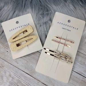 Aeropostal hair clips